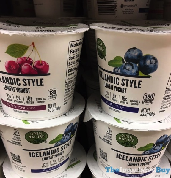 Open Nature Icelandic Style Yogurt  Black Cherry and Blueberry