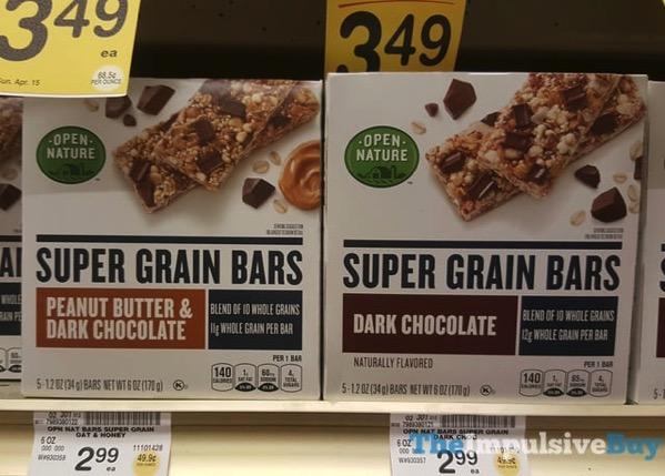 Open Nature Super Grain Bars  Peanut Butter  Dark Chocolate and Dark Chocolate
