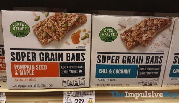 Open Nature Super Grain Bars  Pumpkin Seed  Maple and Chia  Coconut