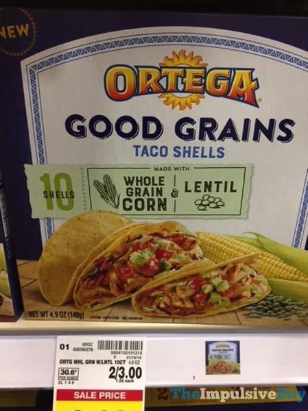 Ortega Whole Grain Corn  Lentil Good Grains Taco Shells