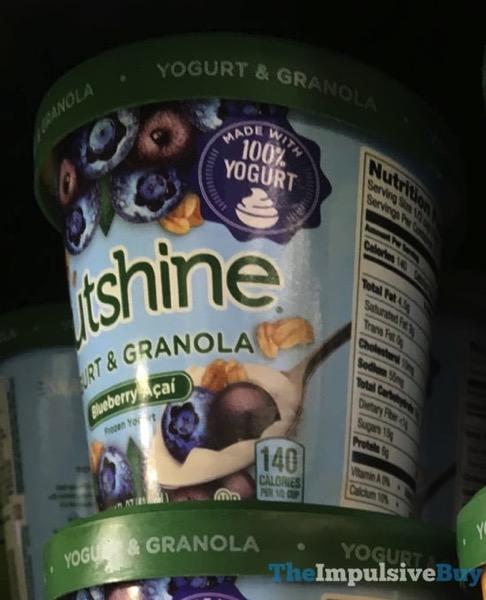 Outshine Blueberry Acai Yogurt  Granola Frozen Yogurt