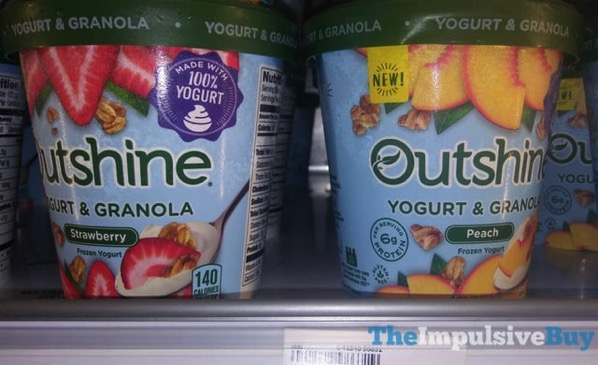 Outshine Yogurt  Granola Frozen Yogurt  Strawberry and Peach