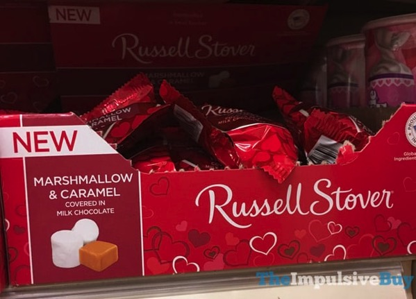 Russell Stover Marshmallow  Caramel Milk Chocolate Heart