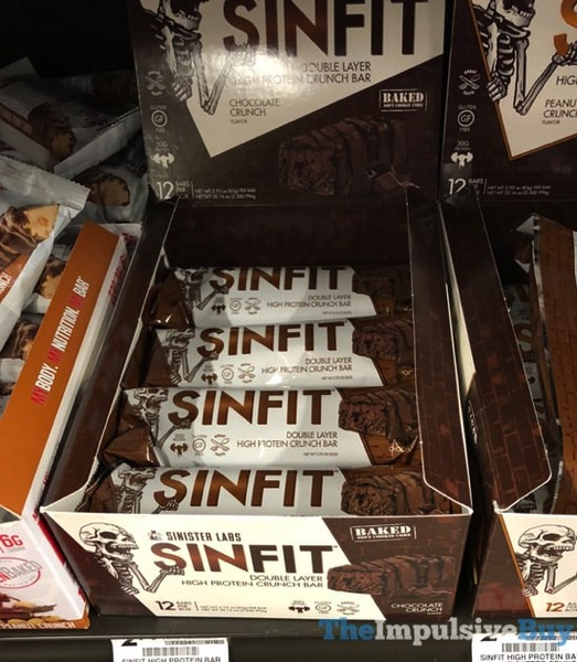 Sinister Labs Sinfit Chocolate Crunch Double Layer High Protein Crunch Bar