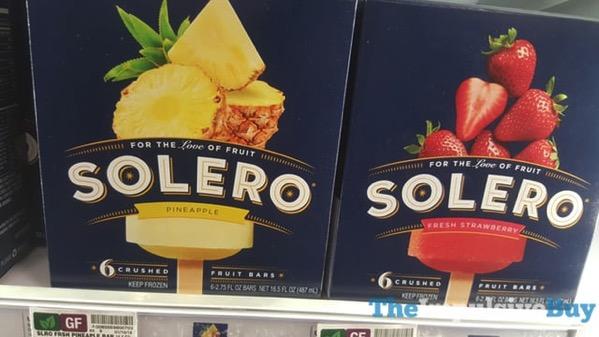 Solero Pineapple and Fresh Strawberry Fruit Bars