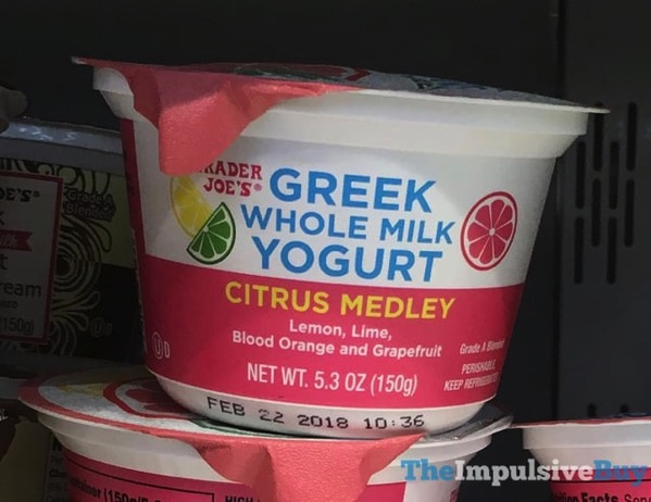 Trader Joe s Citrus Medley Greek Whole Milk Yogurt