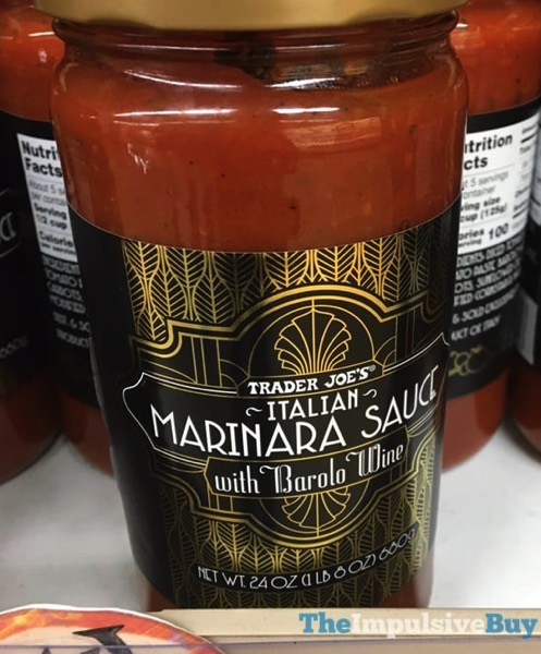 Trader Joe s Italian Marinara Sauce with Barolo Wine