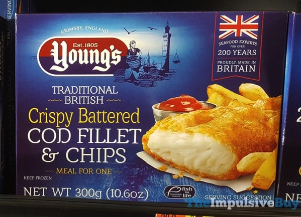 Young s Traditional British Crispy Battered Cod Fillet  Chips