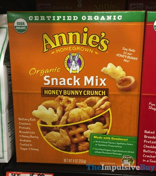 Annie s Homegrown Organic Snack Mix Honey Bunny Crunch