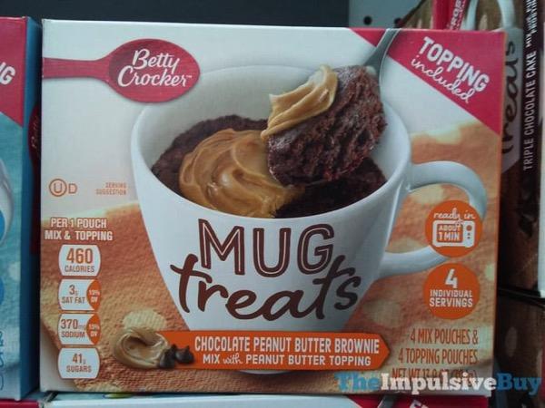 Betty Crocker Chocolate Peanut Butter Brownie Mug Treats