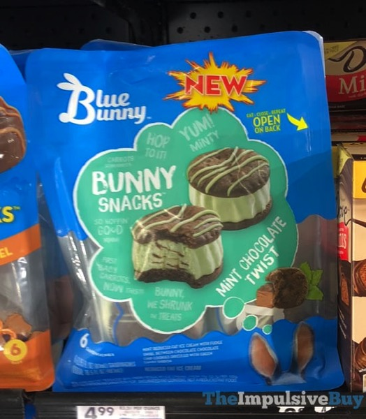 Blue Bunny Bunny Snacks Mint Chocolate Twist