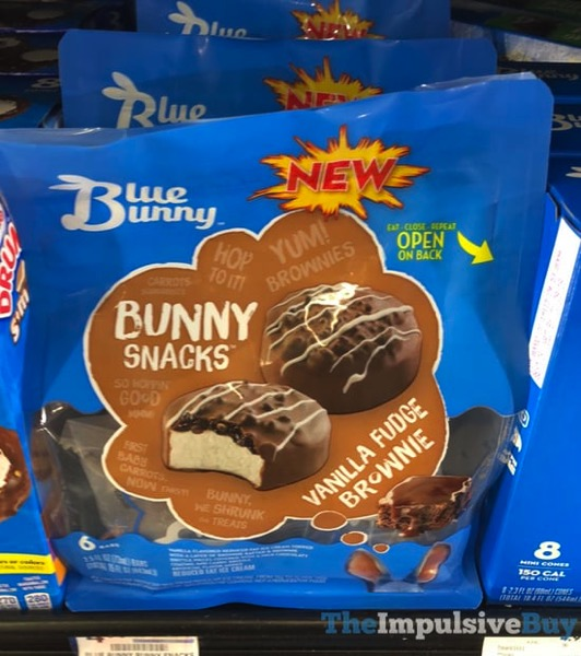 Blue Bunny Bunny Snacks Vanilla Fudge Brownie