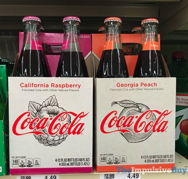 Coca Cola California Raspberry and Georgia Peach