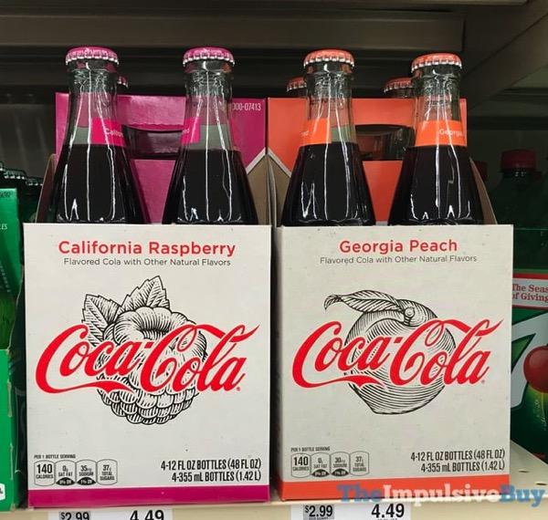 Coca Cola California Raspberry and Georgia Peach