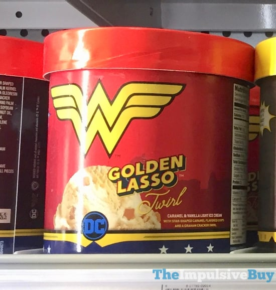 Dreyer s Edy s DC Comics Golden Lasso Twirl Ice Cream