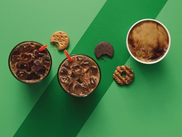 Dunkin Donuts Girl Scout Cookie Inspired Flavors
