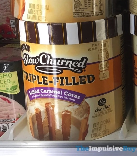 Edy s Slow Churned Triple Filled Salted Caramel Cores Ice Cream