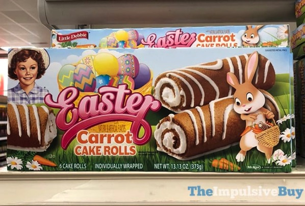 Little Debbie Easter Carrot Cake Rolls