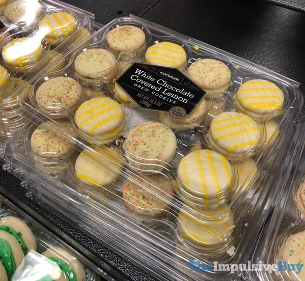 Marketside White Chocolate Covered Lemon Oreo Cookies