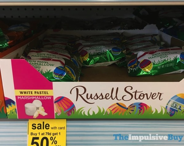 Russell Stover White Pastel Marshmallow Egg
