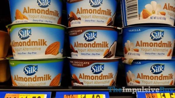 Silk Almondmilk Yogurt Alternative  Plain Dark Chocolate Coconut and Vanilla