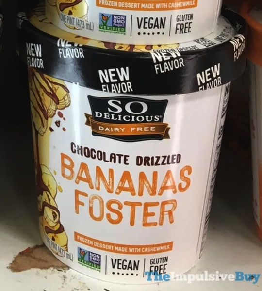 So Delicious Chocolate Drizzled Bananas Foster Frozen Dessert