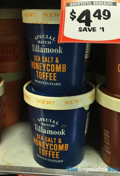 Tillamook Special Batch Sea Salt  Honeycomb Toffee Frozen Custard