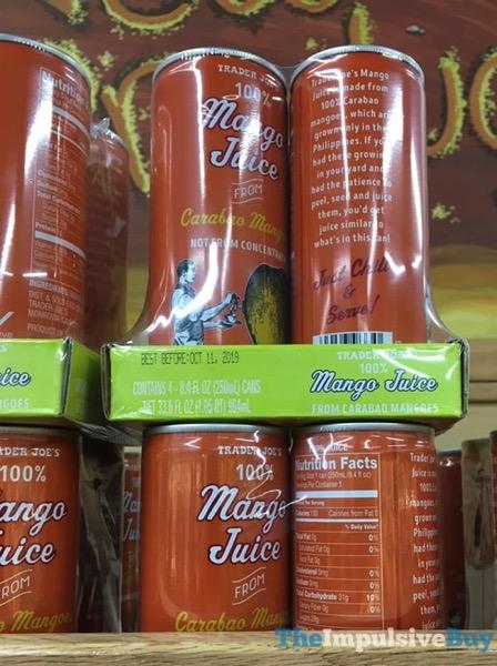Trader Joe s 100 Mango Juice from Carabao Mangoes
