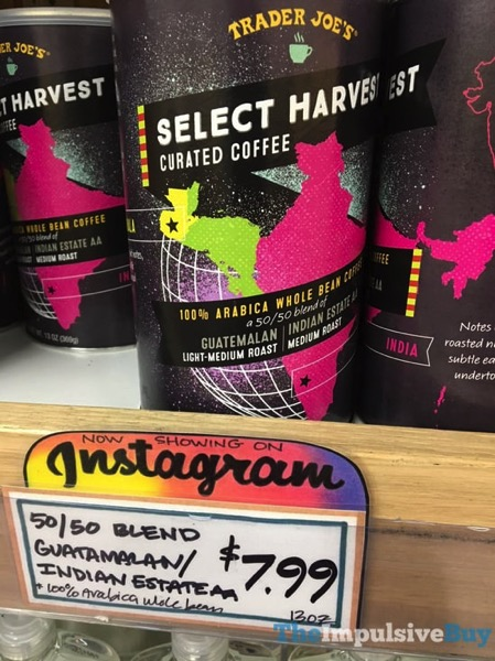 Trader Joe s Select Harvest Curated Coffee 50 50 Guatamalan Indian Estate