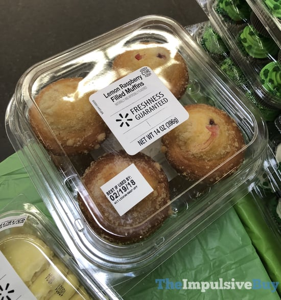 Walmart Lemon Raspberry Filled Muffins