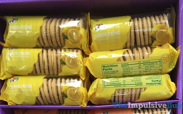 7 Eleven 7 Select Lemon Creme Sandwich Cookies