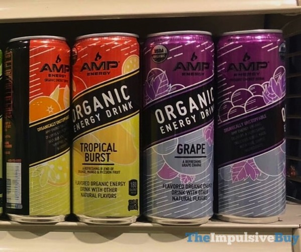 Amp Energy Organic Energy Drink  Tropical Burst and Grape