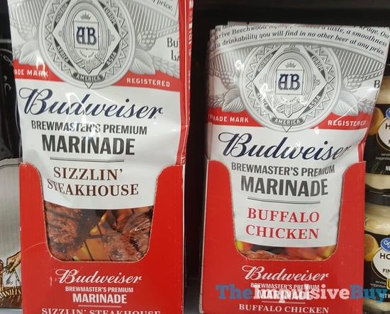 Budweiser Brewmaster s Premium Marinades  Sizzlin Steakhouse and Buffalo Chicken