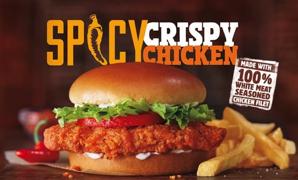 Burger King Spicy Crispy Chicken Sandwich
