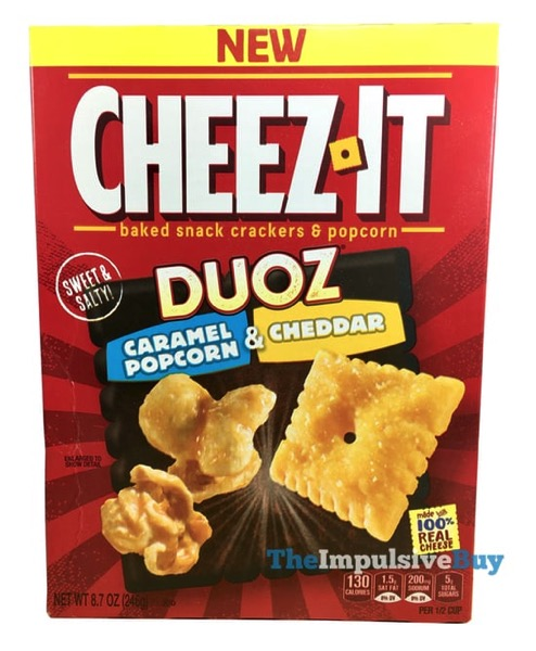 Cheez It Duoz Caramel Popcorn  Cheddar