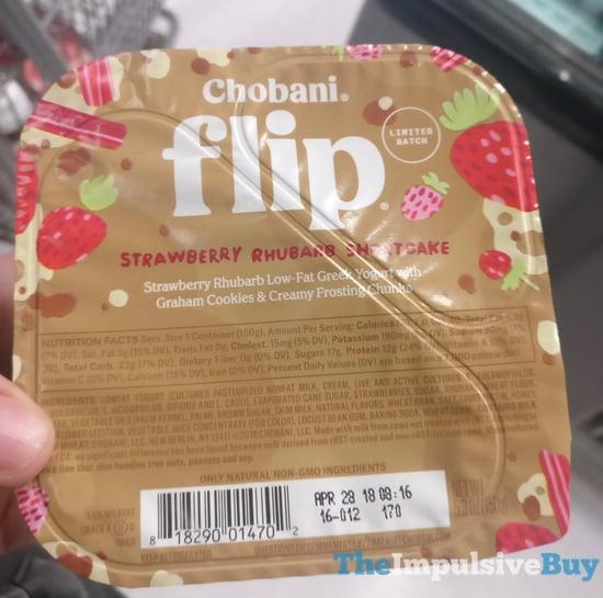 Chobani Flip Limited Batch Strawberry Rhubarb Shortcake Greek Yogurt