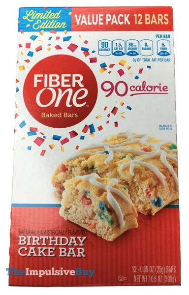 Fiber One Limited Edition Birthday Cake Baked Bar