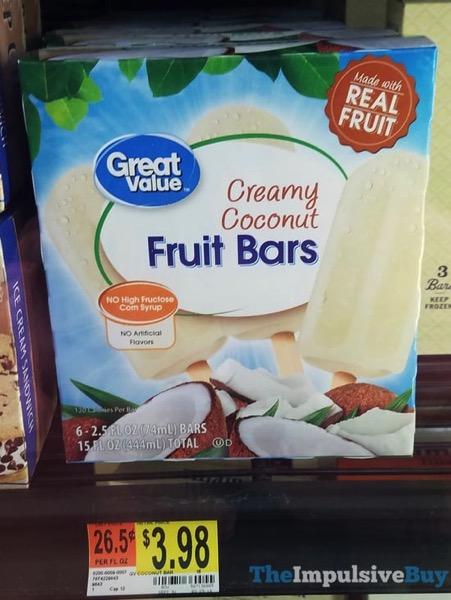 Great Value Creamy Coconut Fruit Bars