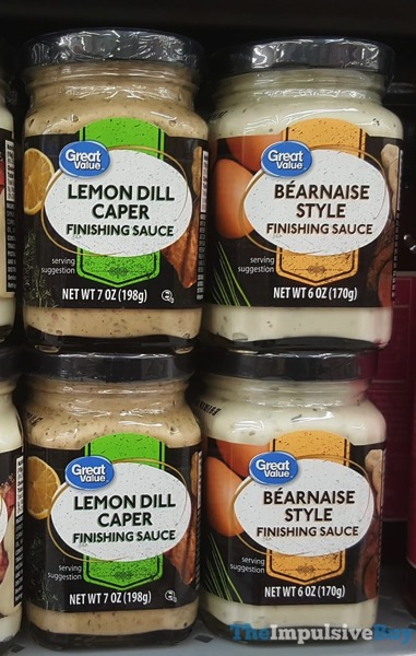 Great Value Finishing Sauces  Lemon Dill Caper and Bearnaise Style