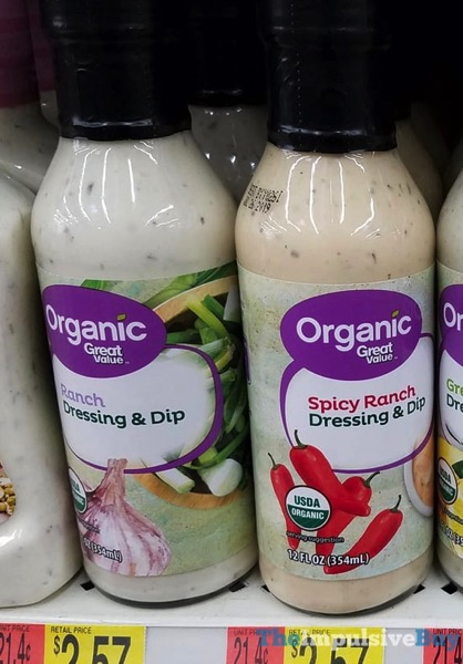 Great Value Organic Ranch and Spicy Ranch Dressing  Dip