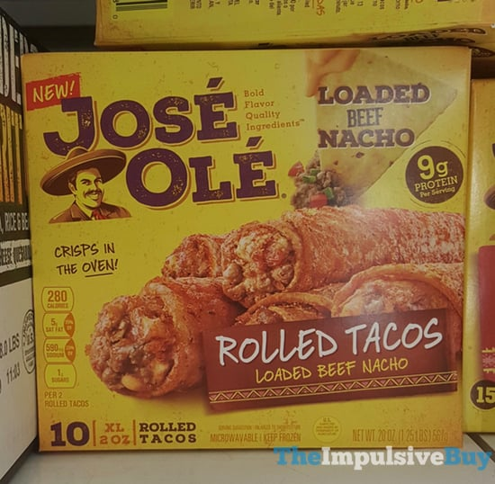 Jose Ole Loaded Beef Nacho Rolled Tacos