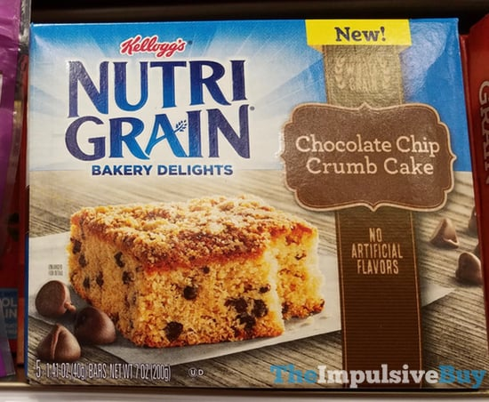 Kellogg s Nutrigrain Bakery Delights Chocolate Chip Crumb Cake
