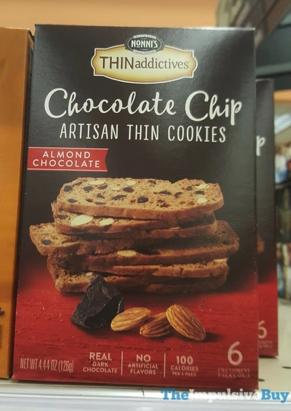 Nonni s Thinaddictives Almond Chocolate Chocolate Chip Artisan Thin Cookies