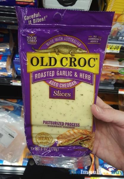 Old Croc Roasted Garlic  Herb Aged Cheddar Slices