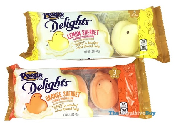 Peeps Delights Lemon Sherbet and Orange Sherbet