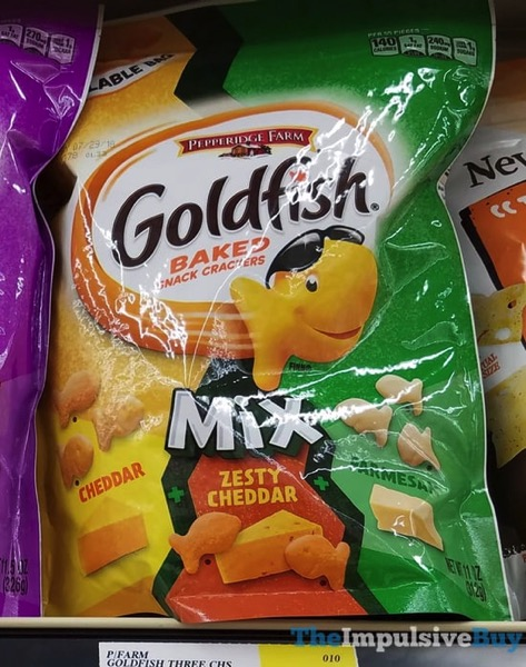 Pepperidge Farm Goldfish Mix Cheddar + Zesty Cheddar + Parmesan