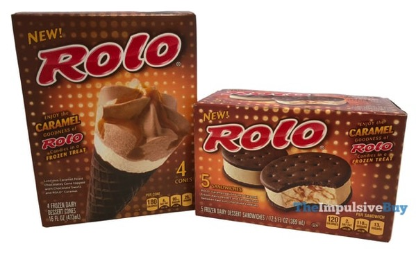 Rolo Frozen Dairy Dessert Cones and Sandwiches