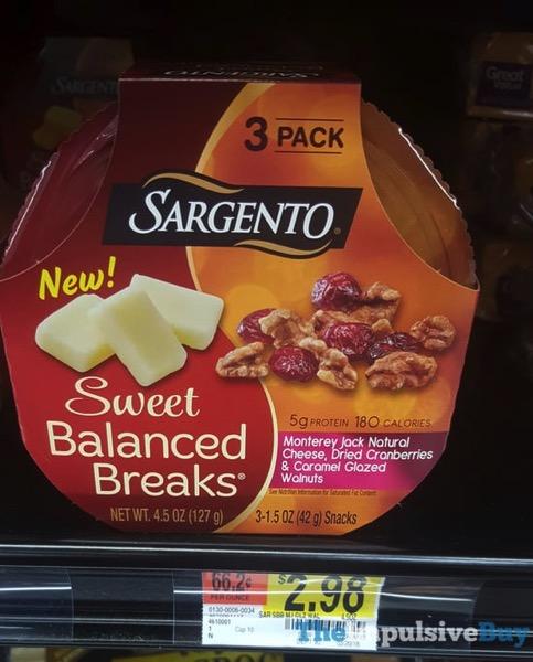 Sargento Sweet Balanced Breaks Monterey Jack Dried Cranberries  Caramel Glazed Walnuts