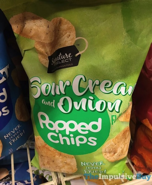 Signature Select  Safeway Sour Cream and Onion Popped Chips