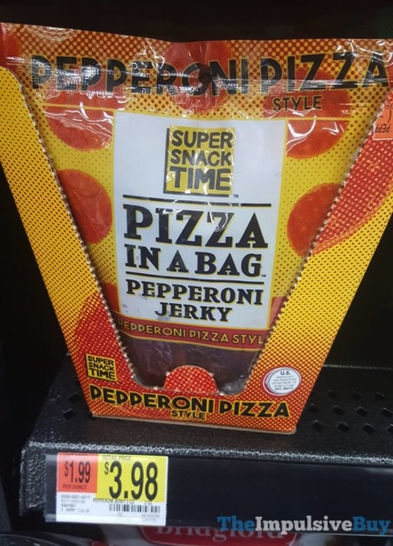 Super Snack Time Pizza in a Bag Pepperoni Pizza Style Peperoni Jerky